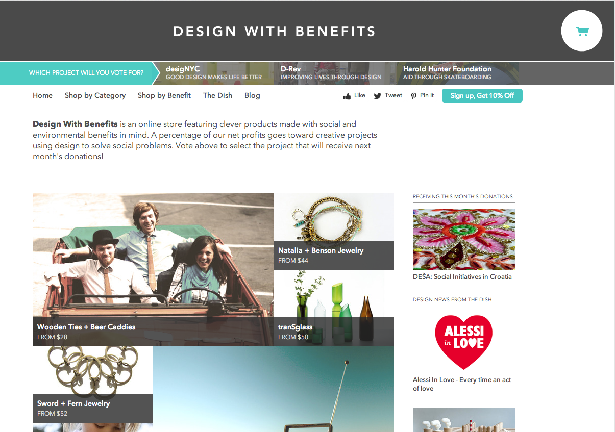 Design With Benefits Homepage